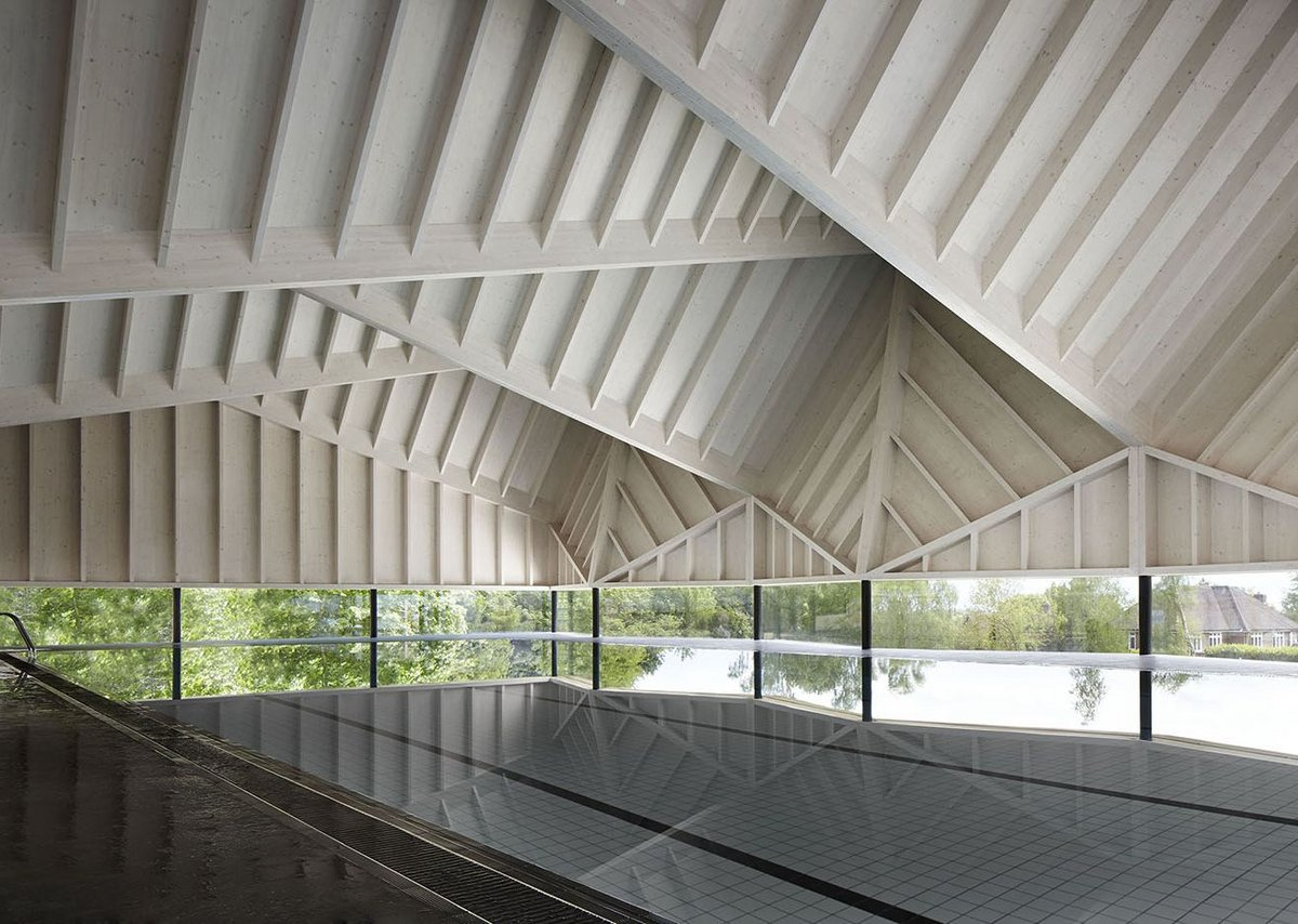 Alfriston School Swimming Pool by Duggan Morris Architects.