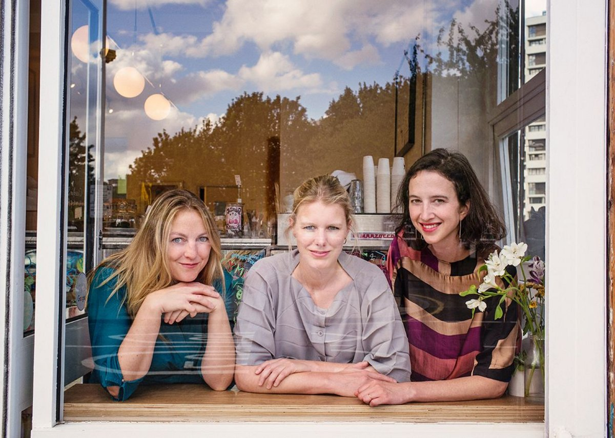 Cafe culture: vPPR founders left to right: Tatiana von Preussen, Catherine Pease and Jessica Reynolds.