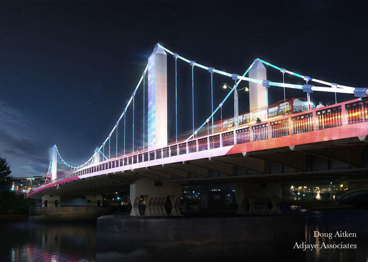 Doug Aitken – 'Lightstream' (Chelsea Bridge).