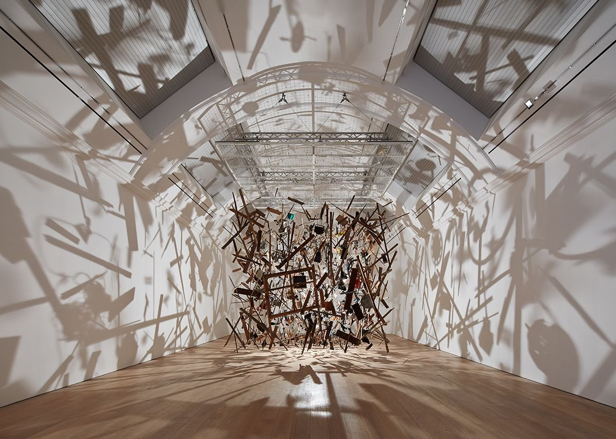 Cornelia Parker's shadows take advantage of the new volume of one of the exhibition galleries