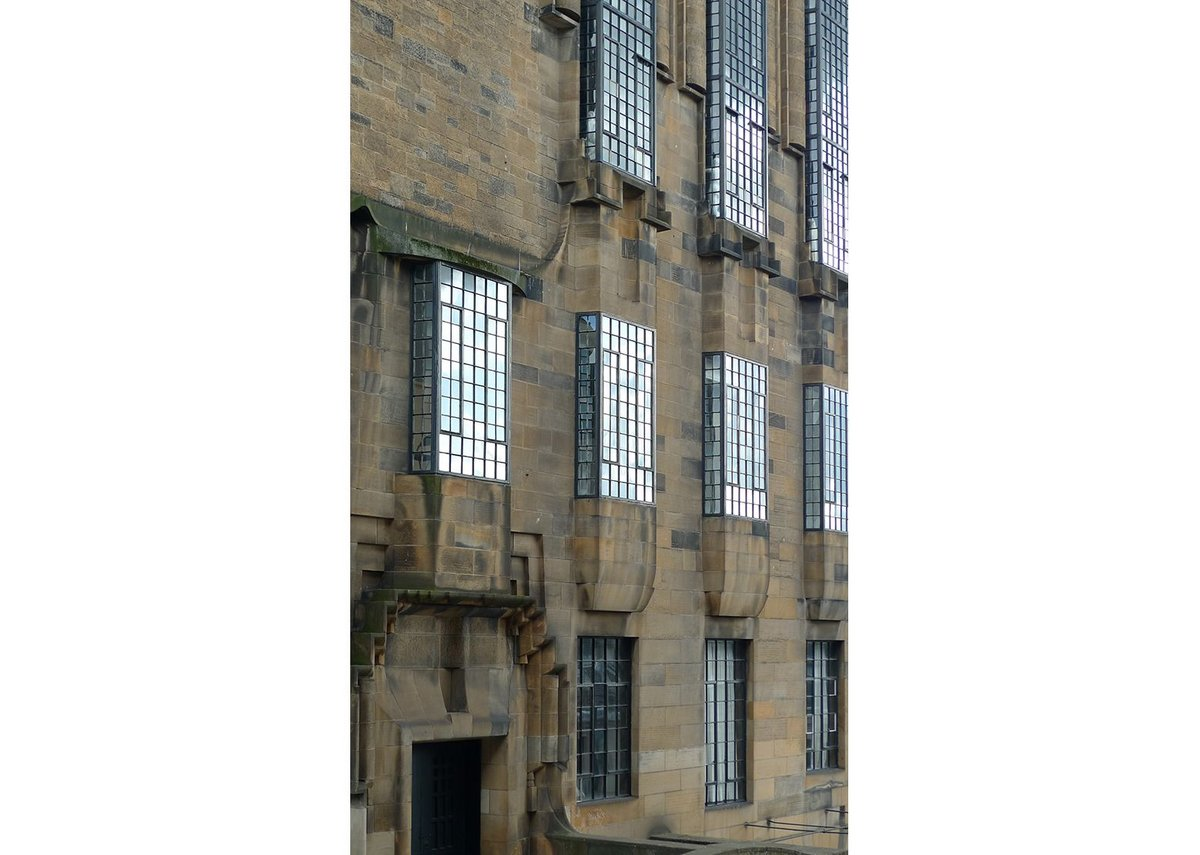 The Glasgow School of Art: west elevation © Mackintosh Architecture, University of Glasgow, 2014.