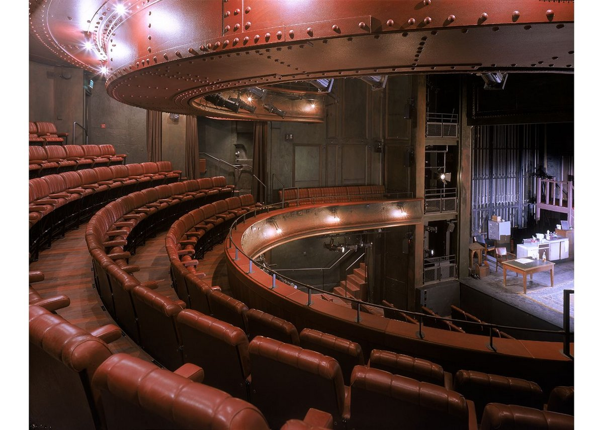 The remodelling of the Royal Court Theatre in London in 1999 put Haworth Tompkins on the map. It improved and updated the Victorian auditorium and expanded the front of house facilities with a new bar and restaurant, which reasserted it as a place to be at the very forefront of London theatre.