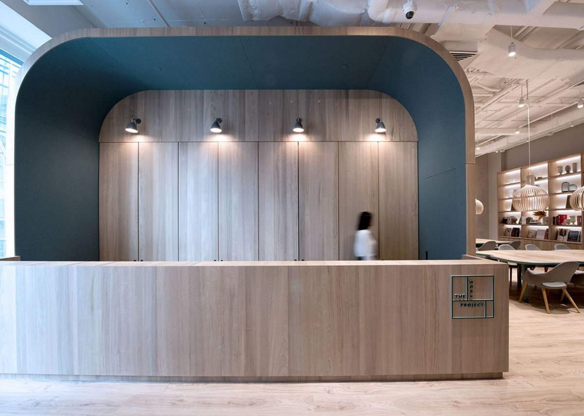 Bean Buro, The Work Project, Hong Kong, 2017. Bean Buro used sculptural canopies to define the identity of this workspace that spans four floors and 74 private offices.