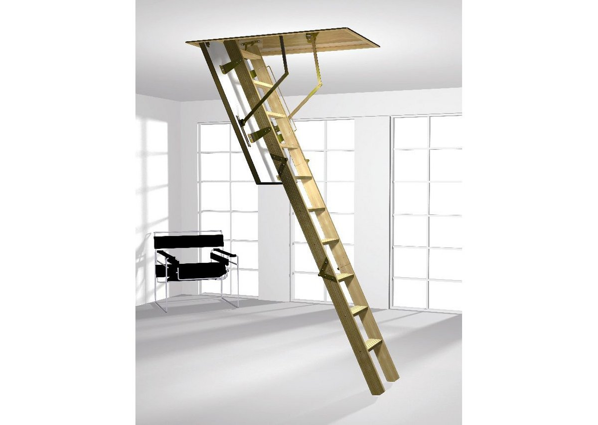 Classic three-part folding ladder