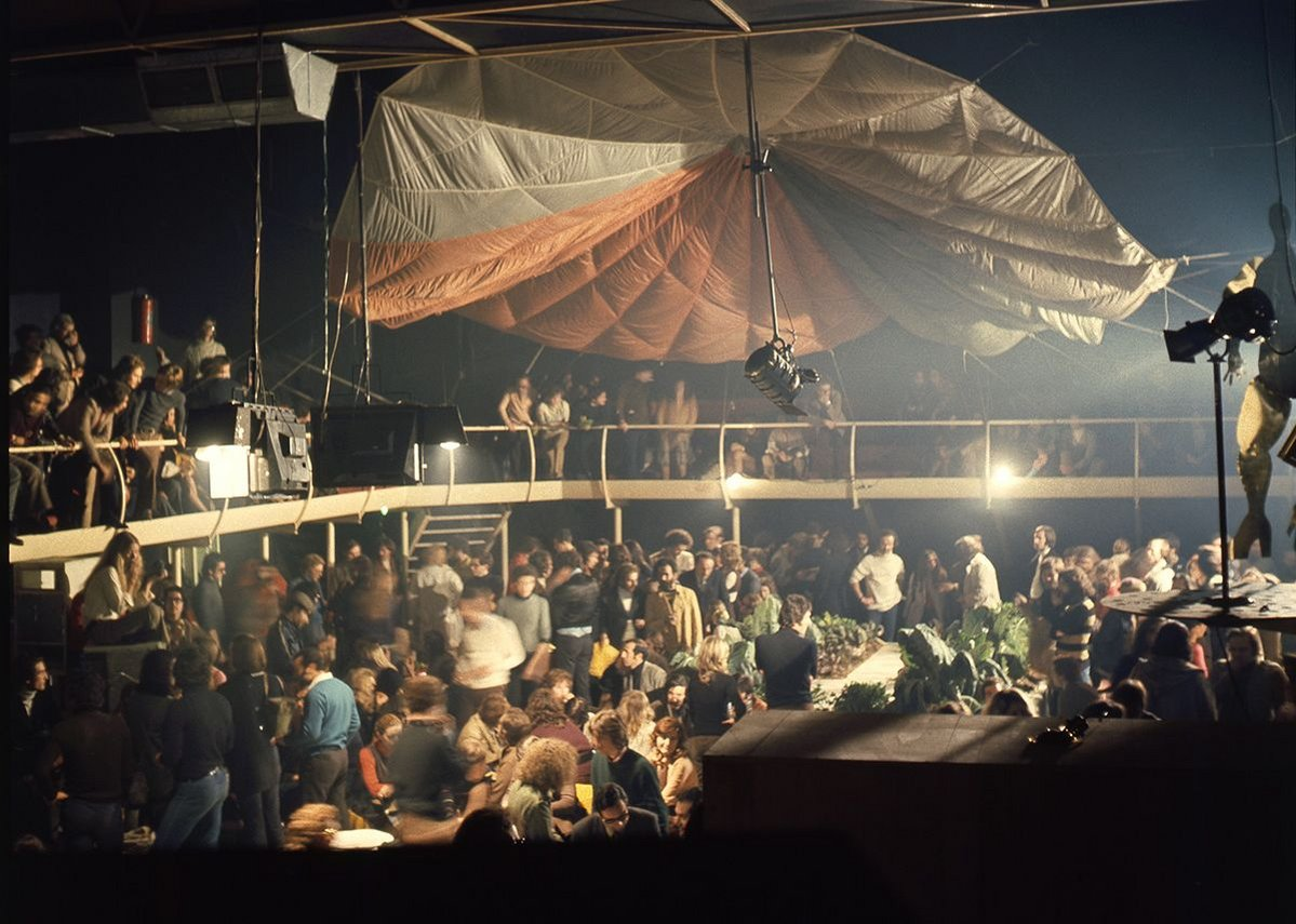 Space Electronic, Mondial Festival, co-organised by Gruppo 9999 and Superstudio, Space Electronic, Florence, 1971. Gruppo 9999, courtesy of Carlo Caldini.