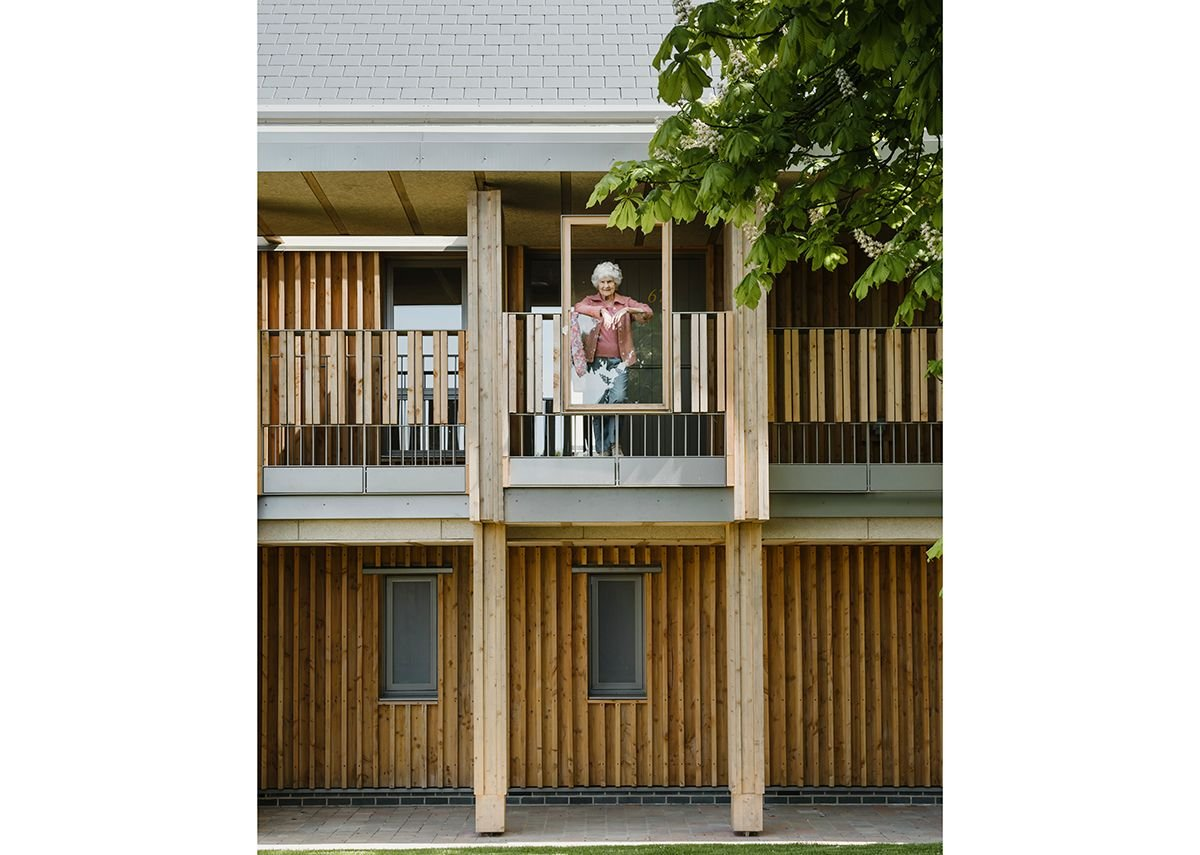 Stepping out from the access deck and using timber frames makes for more sociable moments.