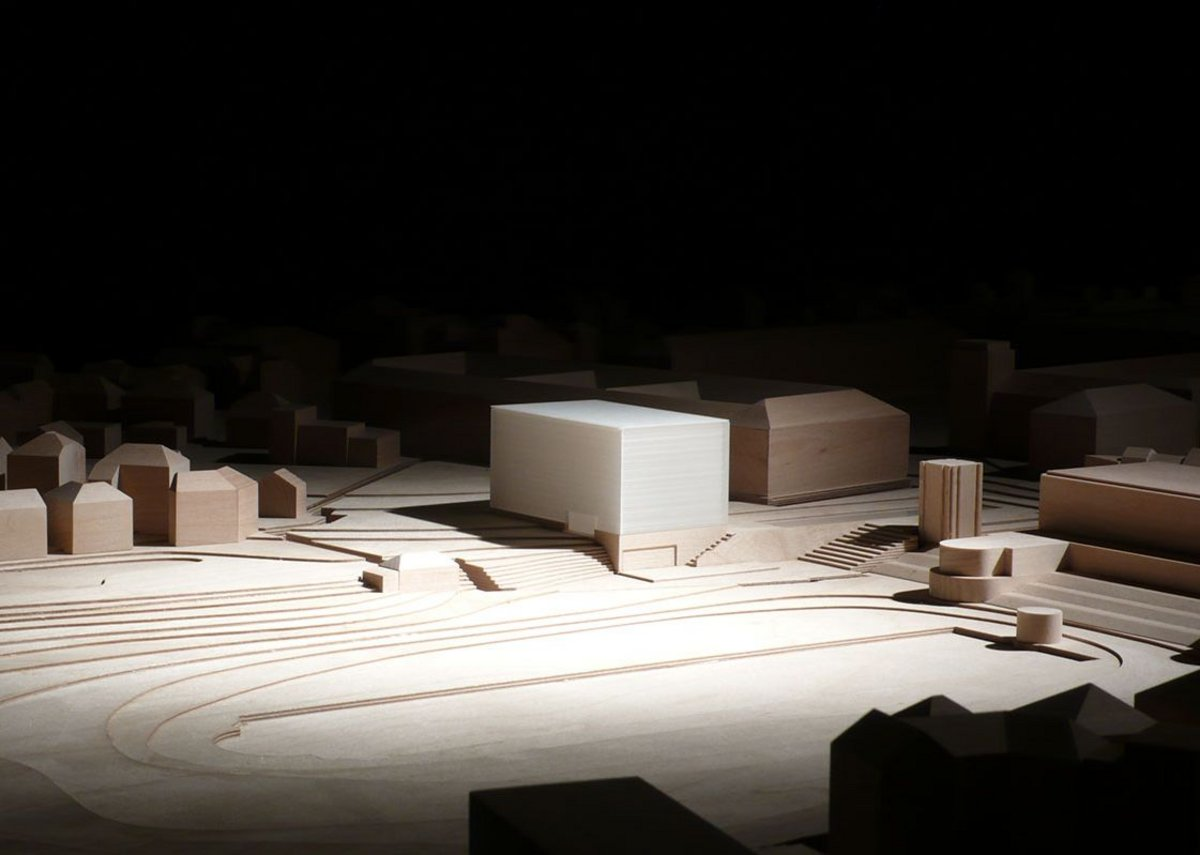 Model of Bauhaus Museum Weimar. Design by Prof. Heike Hanada with Prof. Benedict Tonon