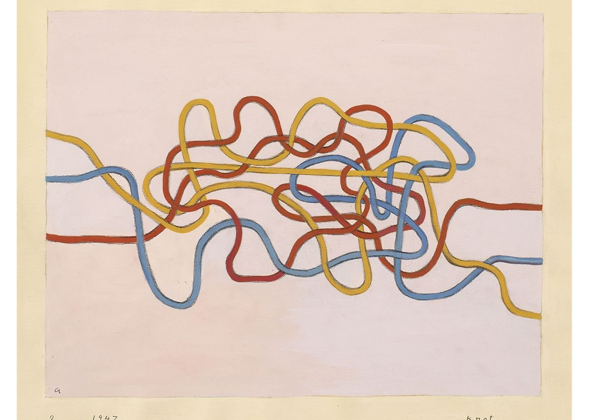 Knot, 1947 by Anni Albers. Gouache on paper.