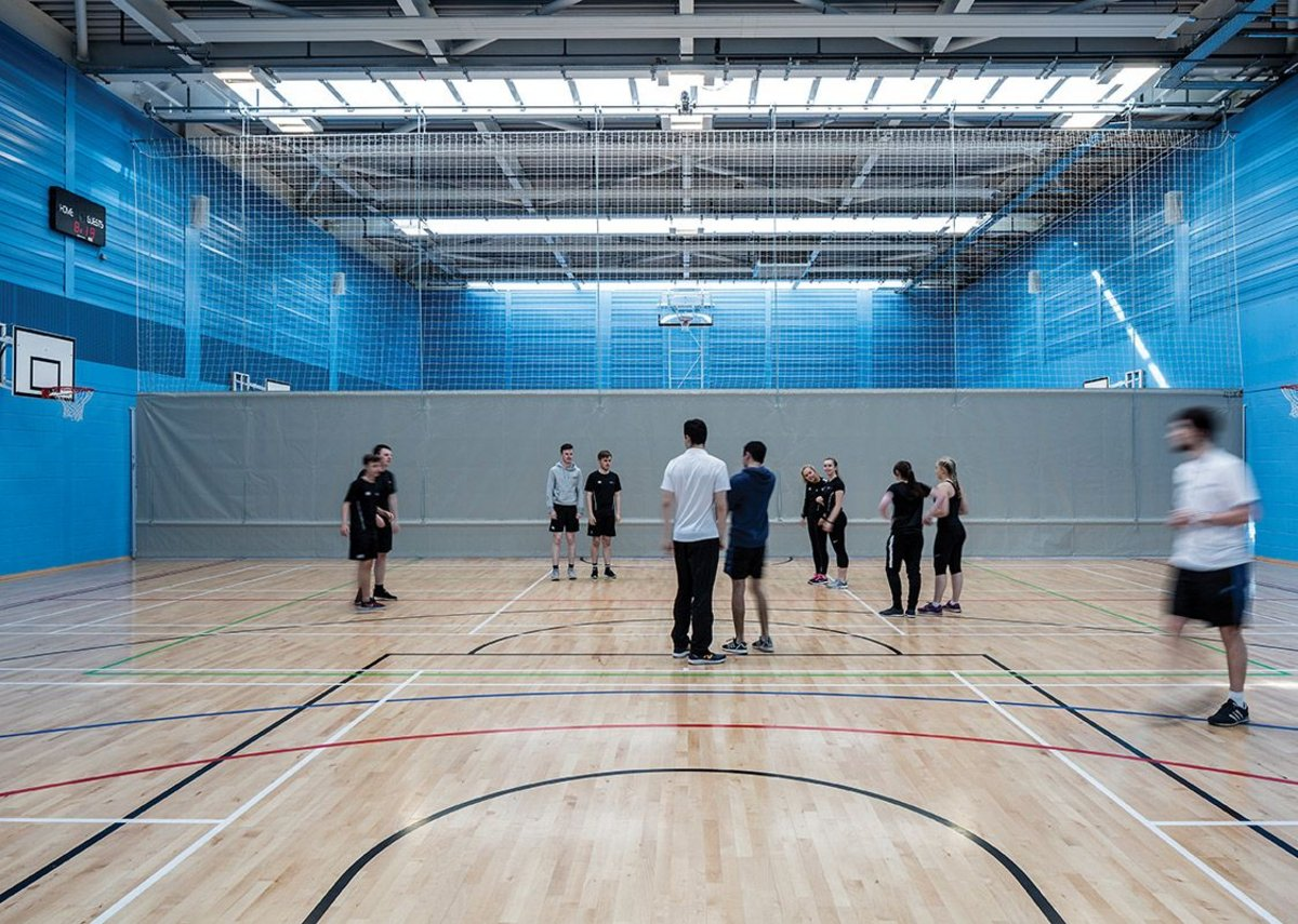 Sport Scotland standard indoor sports hall and training facilities