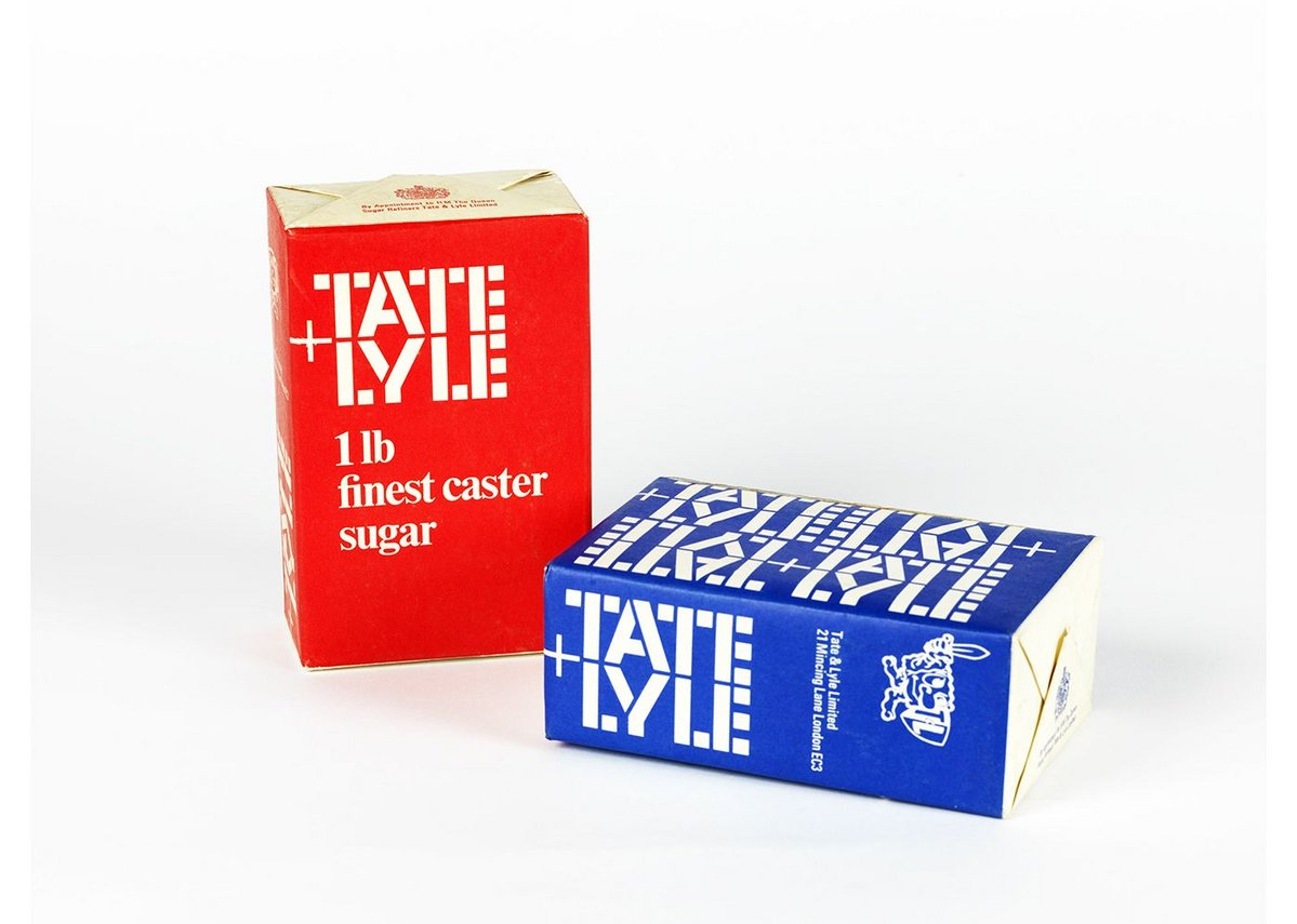 Tate & Lyle boxes, logo designed by FHK Henrion, FHK Henrion Archive, University of Brighton Design Archives.