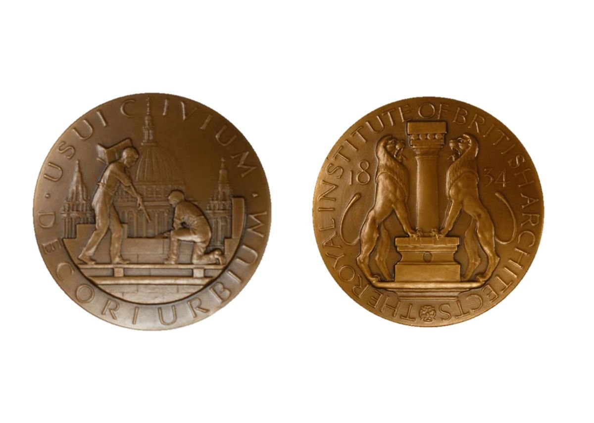 The RIBA Street Medal. Designed by Langford Jones, c.1922. This is possibly the first impression of the medal.