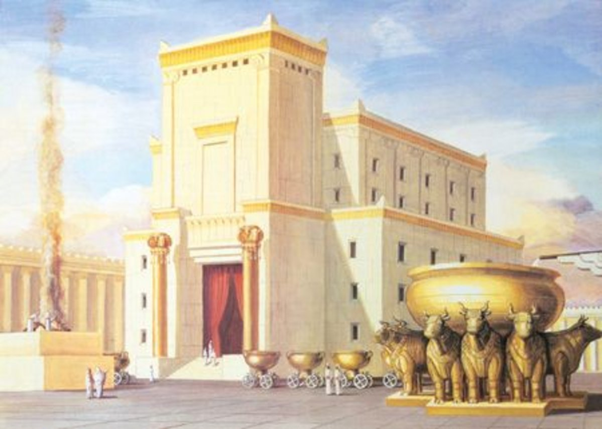Artist's interpretation of the descriptive text of the Temple of Jerusalem.