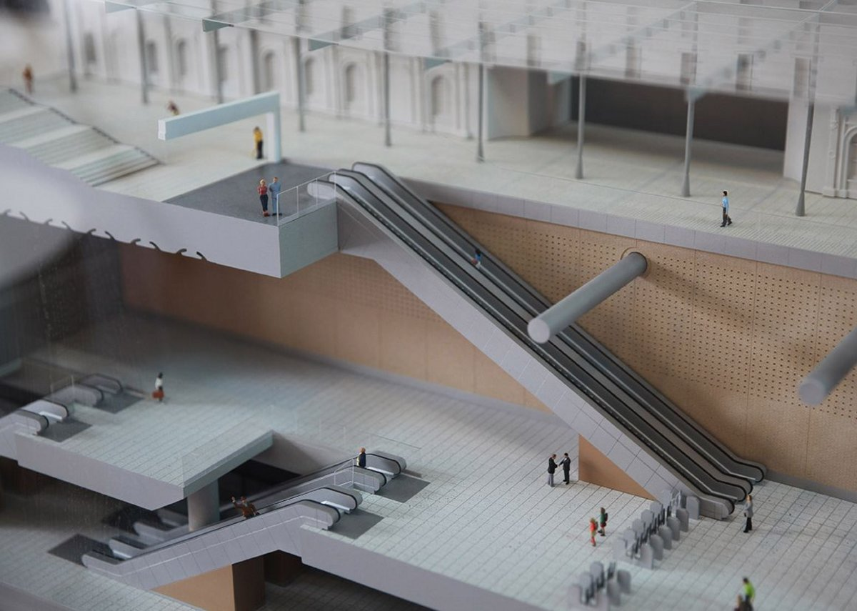 Scale model of Paddington station designed by WestonWilliamson+Partners