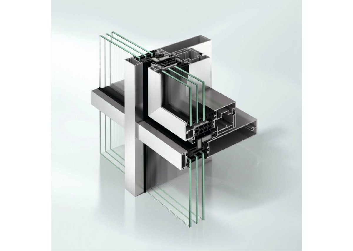 Schueco's FWS 35 PD façade can accommodate double- and triple-glazed units from 22 to 50mm thickness.