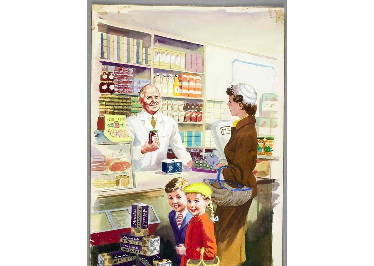 Shopping with Mother, 1958, Harry Wingfield.