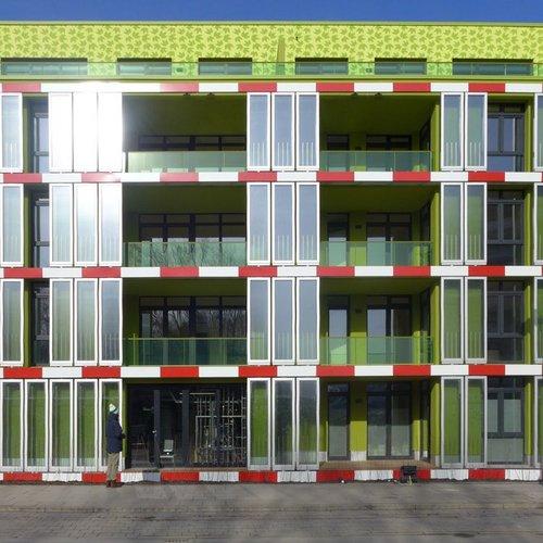 Solar Leaf, the world's first bioreactive facade.