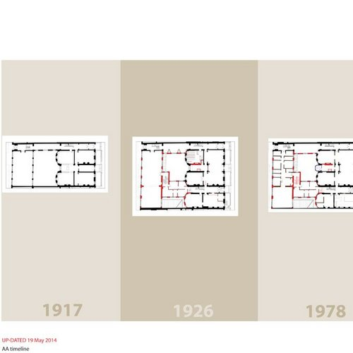 The Architectural Association's ground floor plan over time.