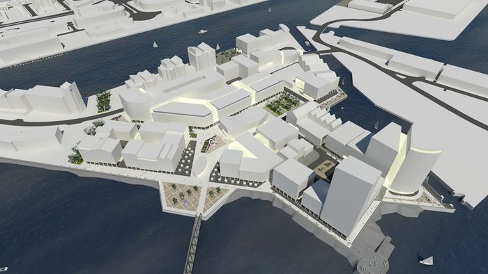 The proposed masterplan at Trinity Saint David – designed for loose fit and flexibility.