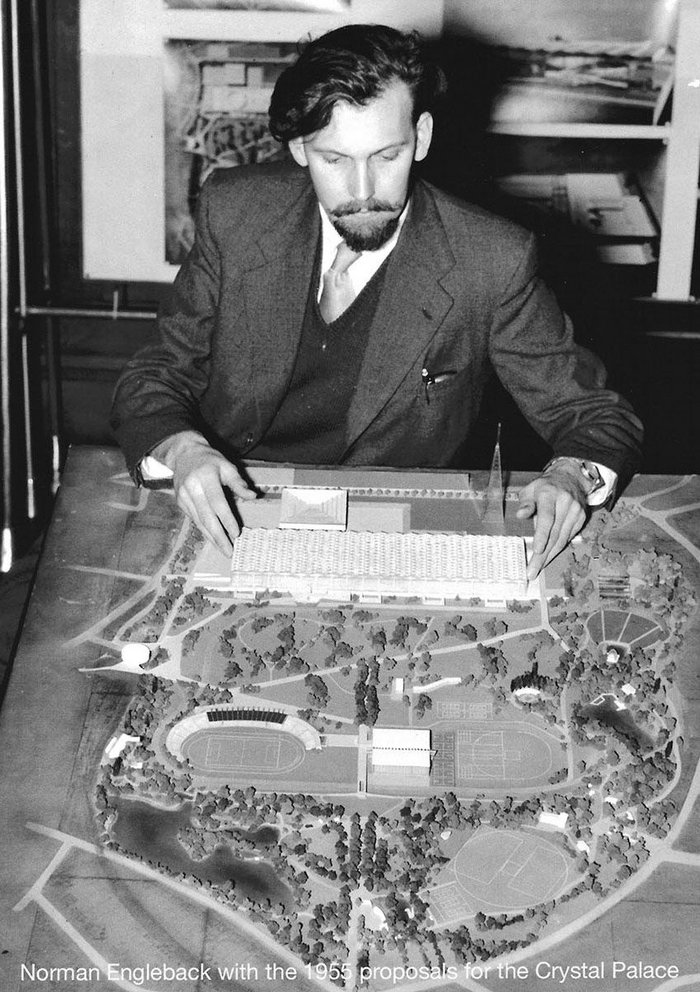 norman engleback 1955 crystal palace