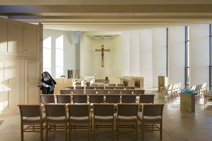 Ready for evensong: Stanbrook Abbey by Feilden Clegg Bradley Studios.