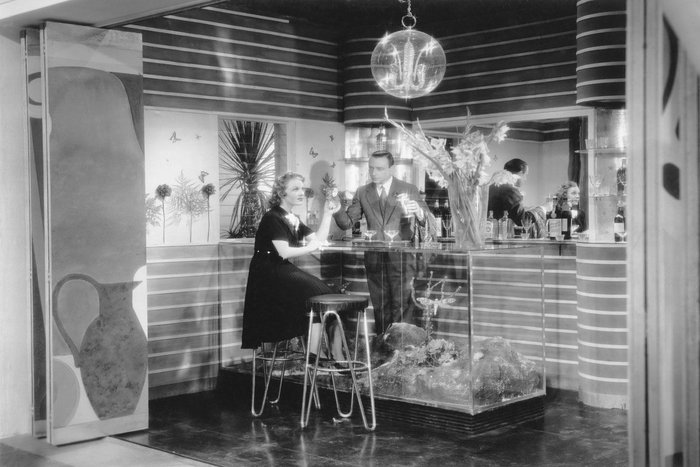 Gastone Medin. Set design for La casa del peccato (The House of Sin; Dir. Max Neufeld, 1938), with Assia Norris and Umberto Melnati Gelatin silver print on paper, 23.7 x 29.5 cm