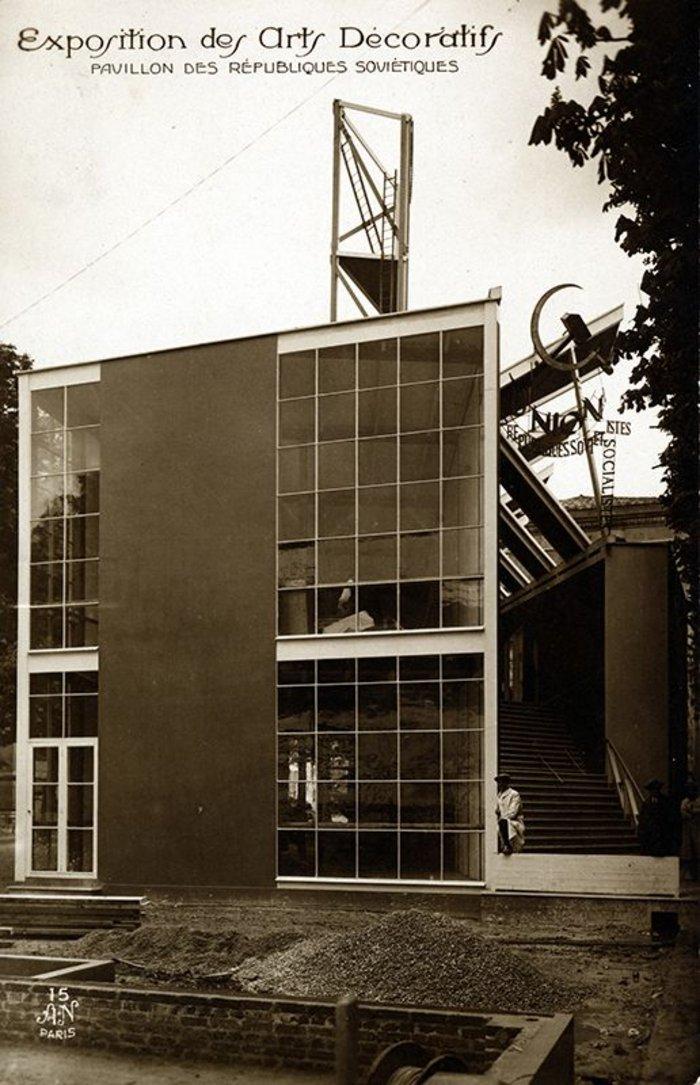 Soviet Pavilion, Exposition Internationale des Arts Décoratifs et Industriels Modernes, Paris 1925.