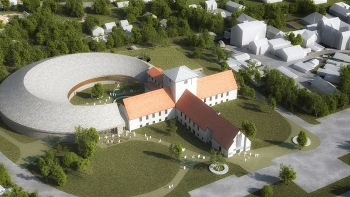 A design competition by BIM: Viking Age Museum at Bygdøy, this project by StatsbyggAART architects.