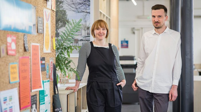 Holly Lewis and Oliver Goodhall won their first competition as Part 1 students at the Bartlett