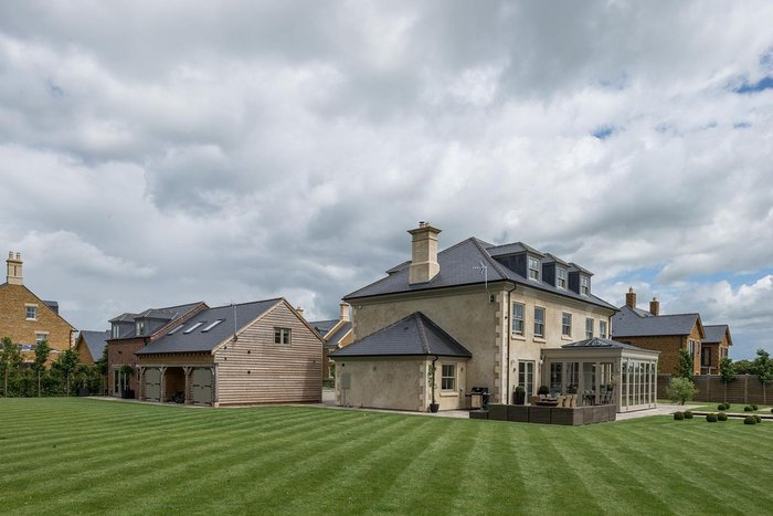 The cupa r12 slate was used in each dwelling in the Langton Homes development.