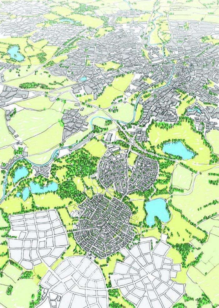 The Wolfson Economics Prize winning submission: garden cities founded in the green belt.