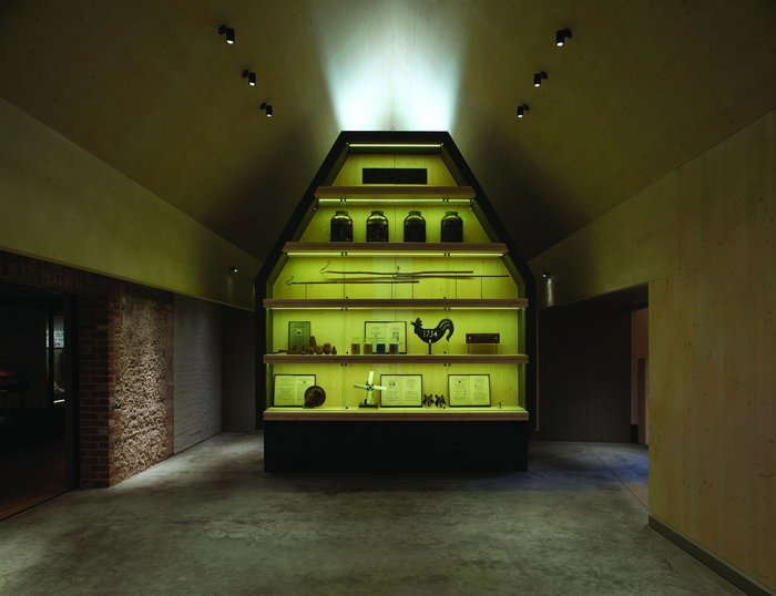Inside the new building, the 'cabinet of curiosities' masks a prosaic toilet block.