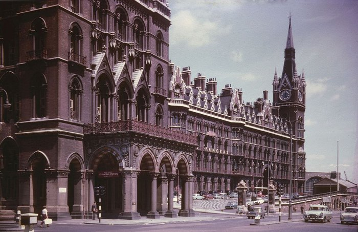 St Pancras Station in 1967 before it was brought back to life.