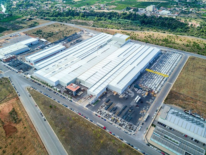 Full steam ahead: Neolith began the year by launching a fourth production line at its headquarters in Castellón, Spain.