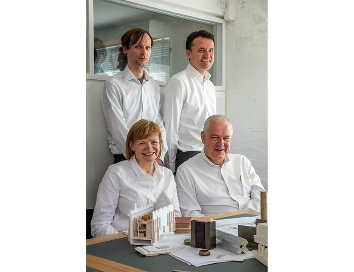 The Wrights, with partners  James Taylor (left) and Stephen Smith.