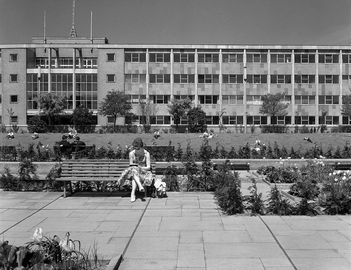 Central Police Station, Queen's Gardens,  Hull, 1962.