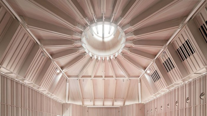 Articulated surfaces in the recital hall have helped create optimum acoustics for the space
