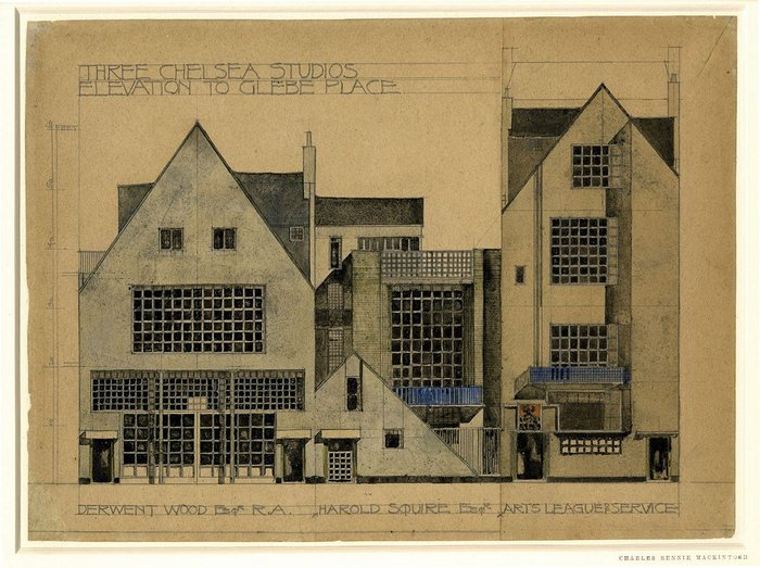 Design for a block of studios in Chelsea