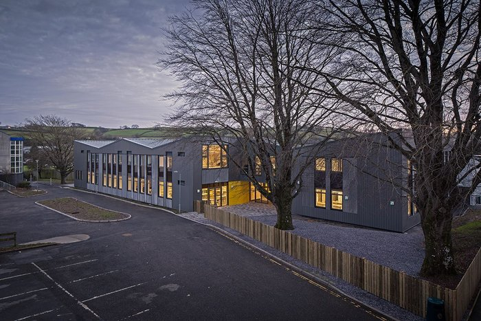 How do we improve leftover space after the builders have departed is a question that dogs school projects. Here at Atrium School, Devon by Satellite Architects.