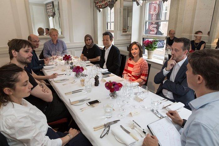 Clockwise from bottom left: Ekaterina Lichtenstein, Dirk Krolikowski, Peter Barbalov, Pierre Wassenaar, Diba Salam, CJ Lim, Lola Fernandez-Redondo, Nigel Headford and  James Santer.