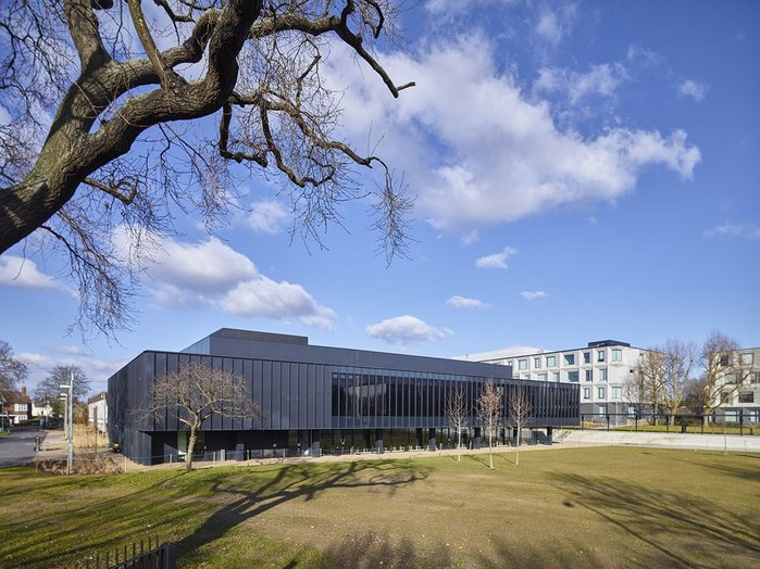 The new dining hall and performing arts centre.