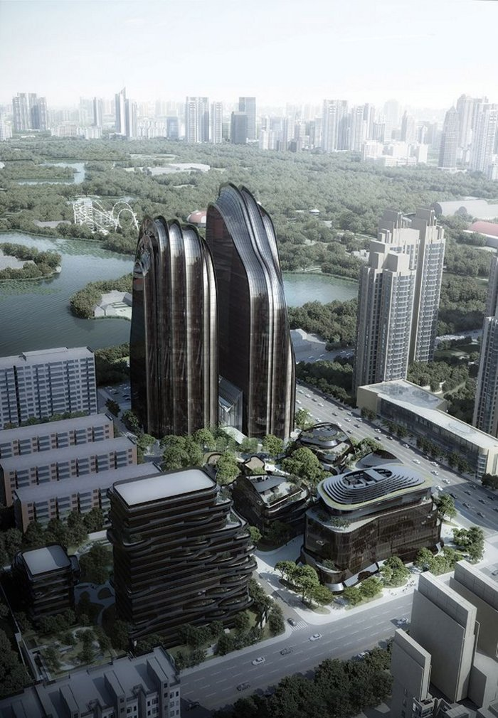 How can new pieces of city be sustainable and create much needed homes? MAD's design for Chaoyang Park Plaza Beijing holds some answers.