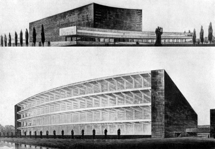 Competition for the Auditorium di Roma, Mario De Renzi, Adalberto Libera, Giuseppe Vaccaro, 1935