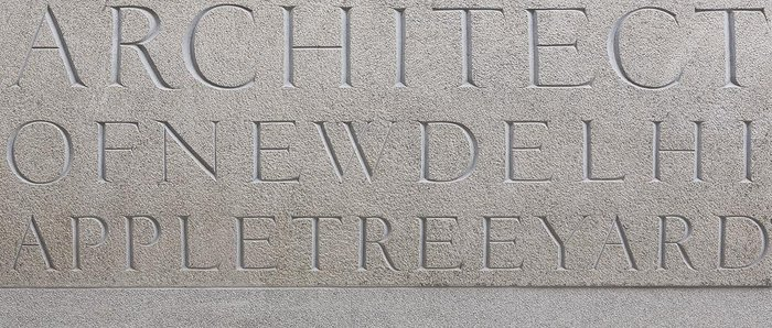Hewn tribute to Lutyens spelt out on enormous pieces of granite