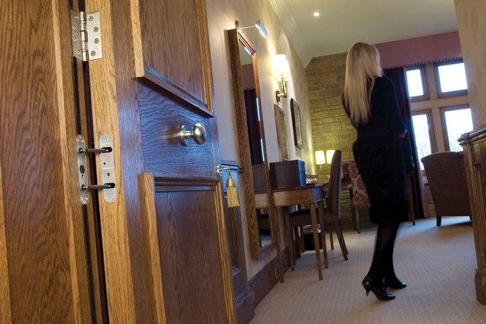 Samuel Heath Powermatic door closers installed at South Lodge Hotel & Spa in Surrey.