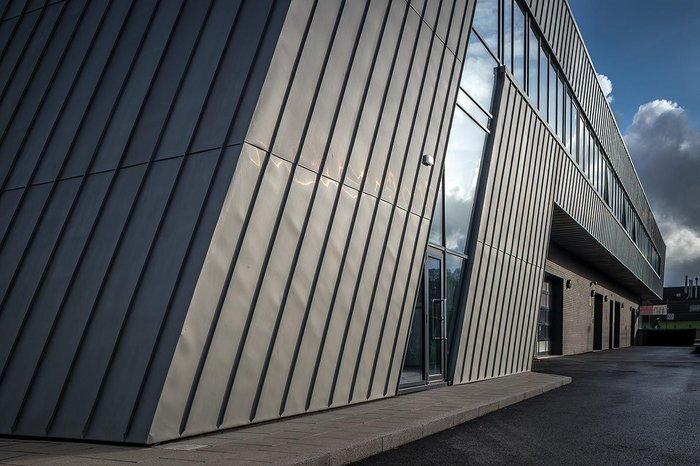 Scientific Synergy Zinc Cladding Adds Drama At Bolton