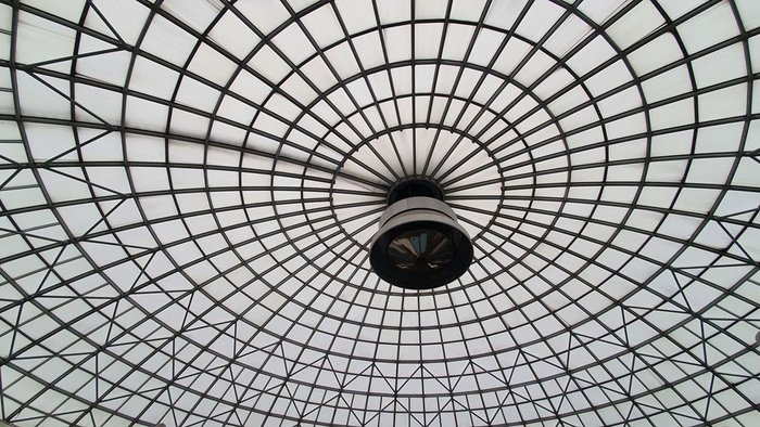 The dome of Oasis Swindon, as designed by Gillinson Barnett & Partners.