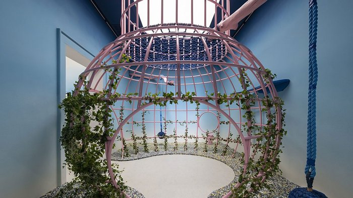 vPPR's Play With(out) Grounds climbing structure installation from The Garden of Privatised Delights, considers how teenagers can be given a voice in shaping their own space in the public realm.