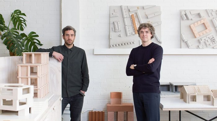 Jessam Al-Jawad and Dean Pike photographed in the east London studio that the practice has occupied since its foundation in 2014.