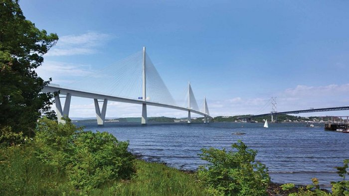 Visualisation of the Queensferry Crossing, Scotland (2016) by Arup.