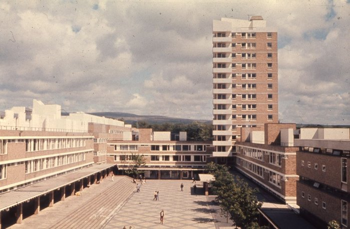 Lancaster University aerial view.